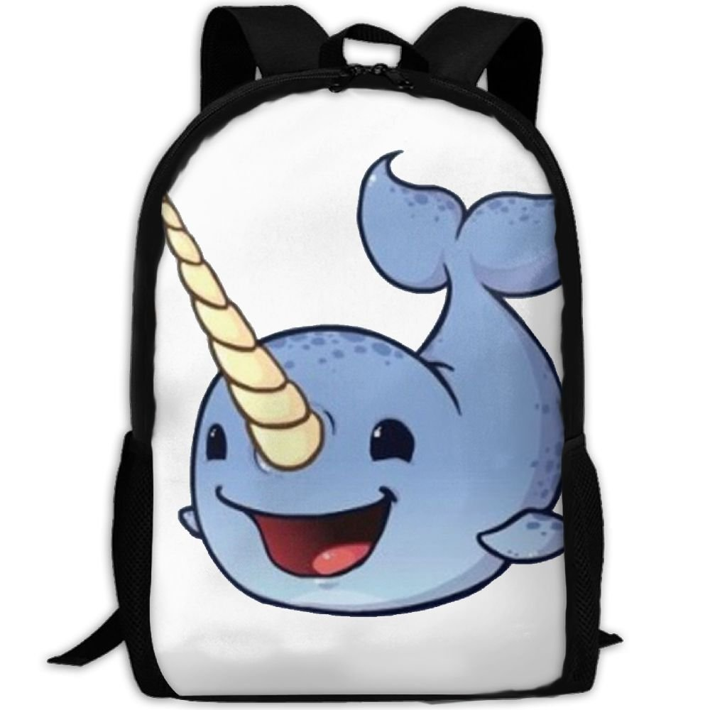 hot sale 2017 Happy Sea Narwhals Luxury Print Men And Women's Travel Knapsack
