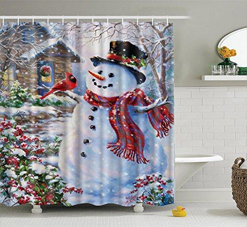 3D Bathroom Polyester Waterproof Shower Curtain 7# - 2