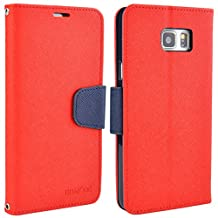 Samsung Galaxy Note 5 Case, Note5 Leather Case, Folio Card Slot Wallet Cover with Magnetic Closure, Carrying Strap and Stand Function for Samsung Galaxy Note5 (Red)