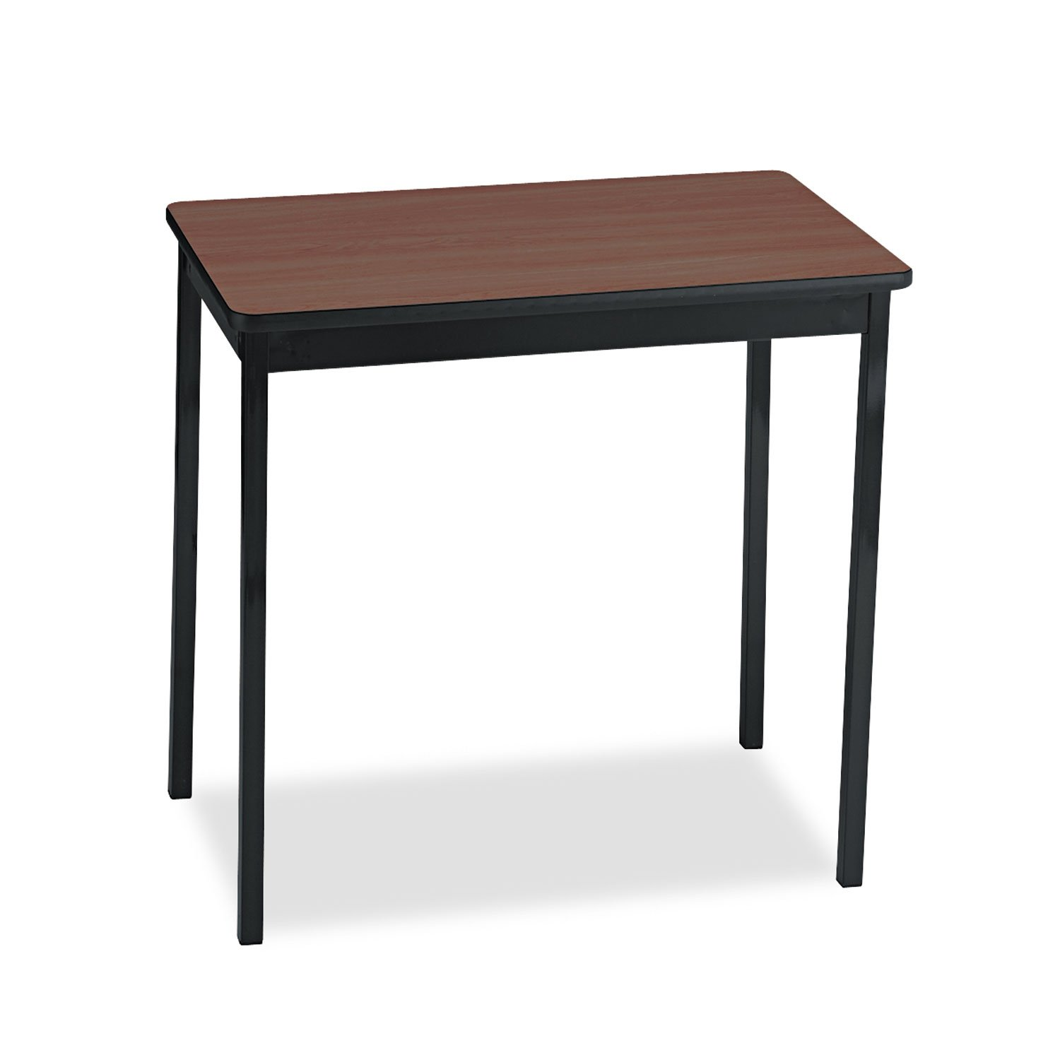 Barricks UT183030WA Utility Table, Rectangular, 30w x 18d x 30h, Walnut/Black