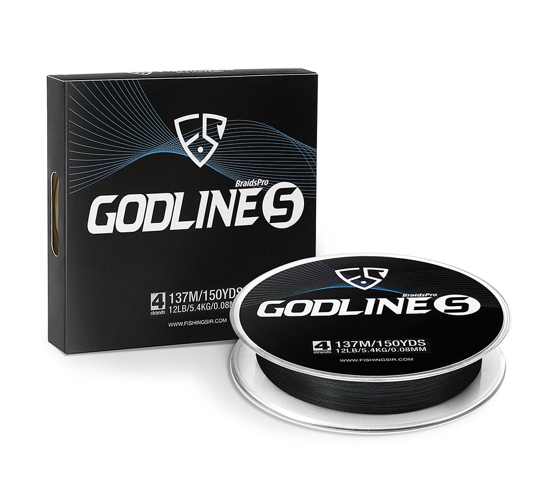 e44019c2606 Amazon.com   FISHINGSIR Godline S Improved Braided Fishing Line Abrasion  Resistant SuperLine - 30% Thinner Smoother Stronger 150-1094Yds