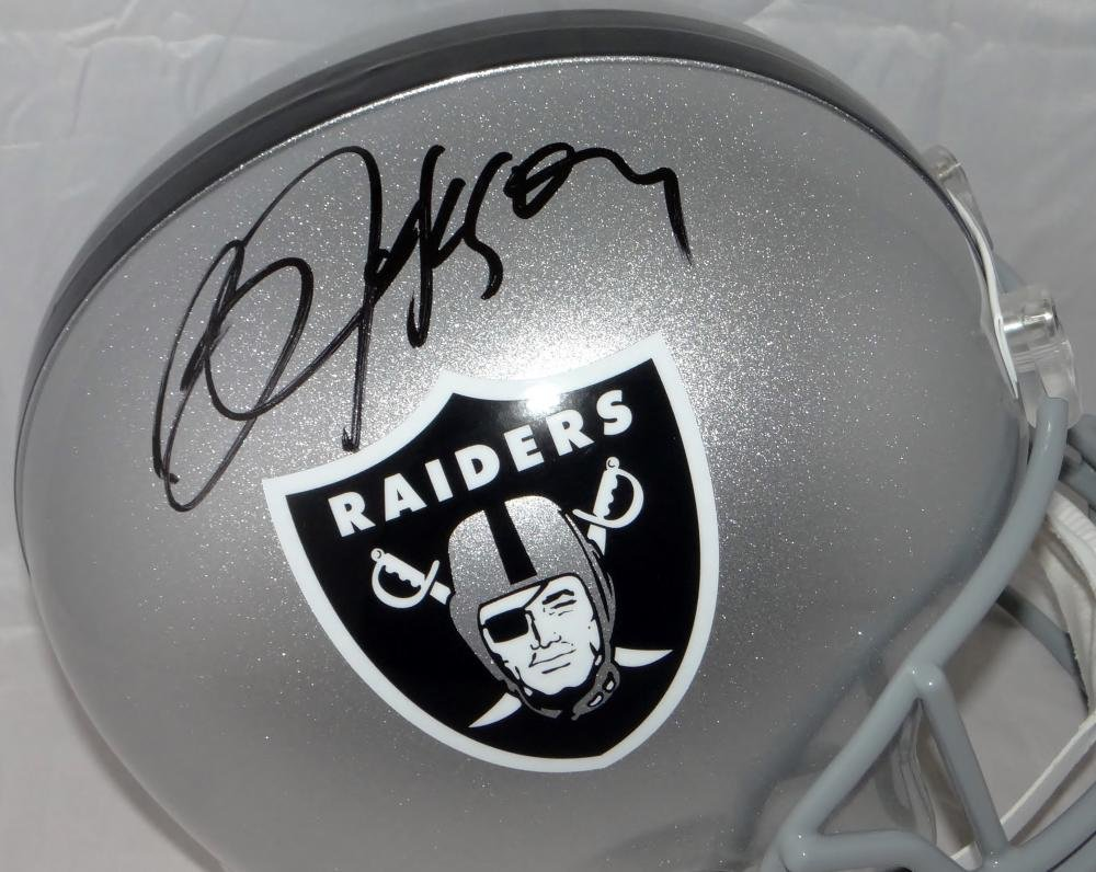 Bo Jackson Autographed Oakland Raiders Full Size Helmet Beckett Authenticated