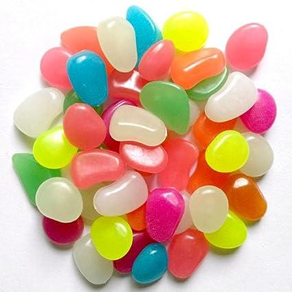GoZheec Piedras Decorativas Brillantes 200 Piezas luminosas piedras Piedras Luminosas para Decoración de Jardín, Acuario
