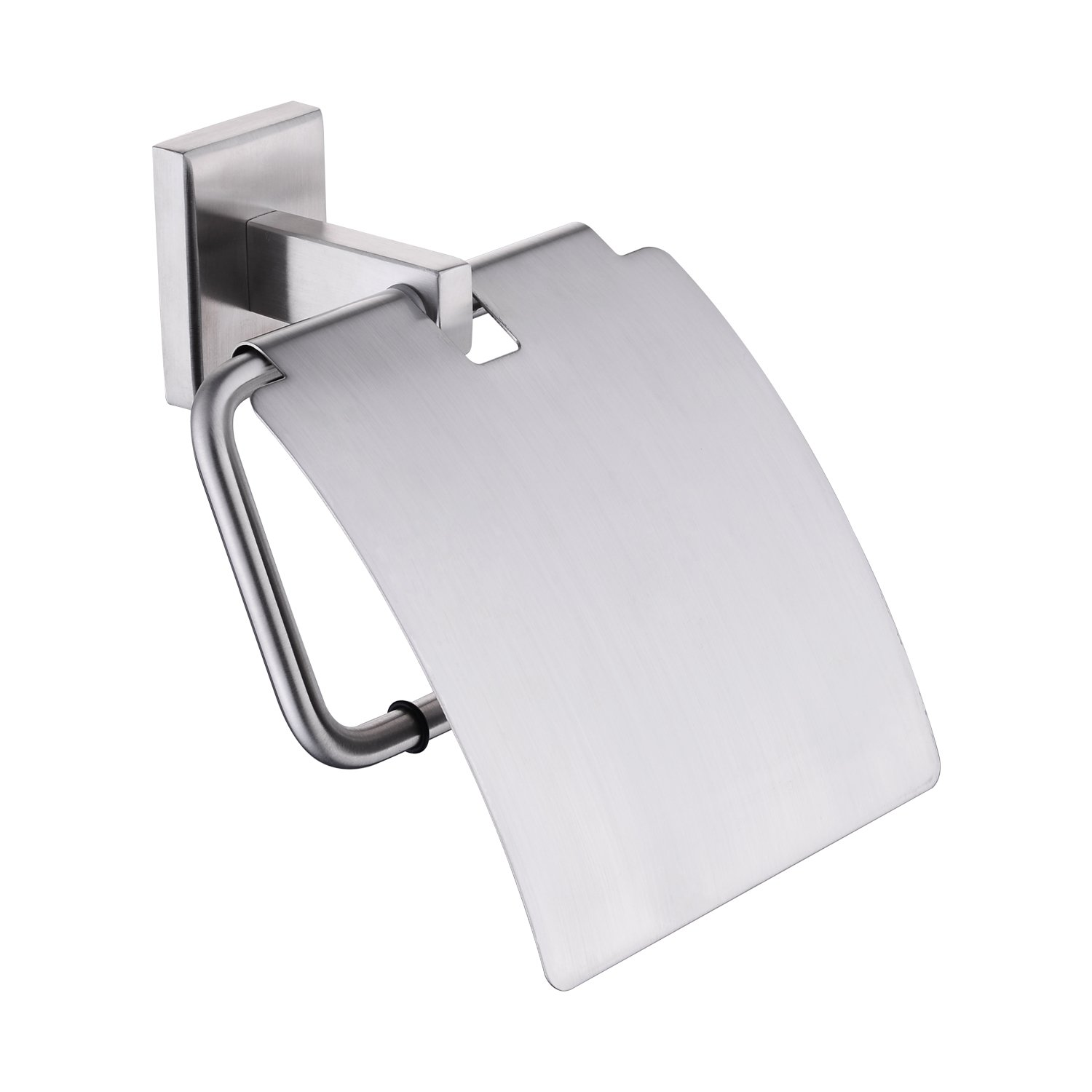 BULUXE SUS304 Stainless Steel Bathroom Lavatory Paper Holder Tissue Holder Wall Mount, Brushed Nickel