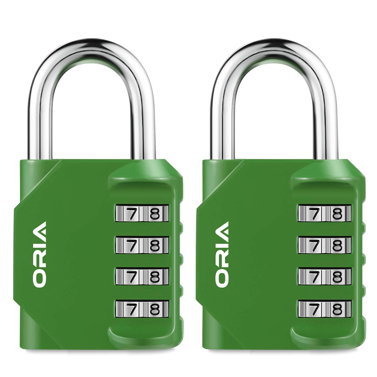 Hasp Cabinet Toolbox Great Gift for Family or Friend ORIA Combination Locks Red Fence 2 Pack Padlocks for School,Gym /& Sports Locker 4-Digit Padlock Case