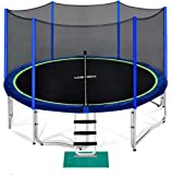 Zupapa 15 14 12 10 FT Trampoline 425LBS Weight Capacity for Kids with Safety Enclosure Net Outdoor Trampolines for…