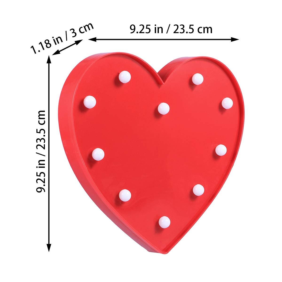 LEDMOMO rosso Lampada da tavolo romantica a forma di cuore per ragazze San Valentino decorazione senza batteria bambini matrimonio festa di compleanno soggiorno