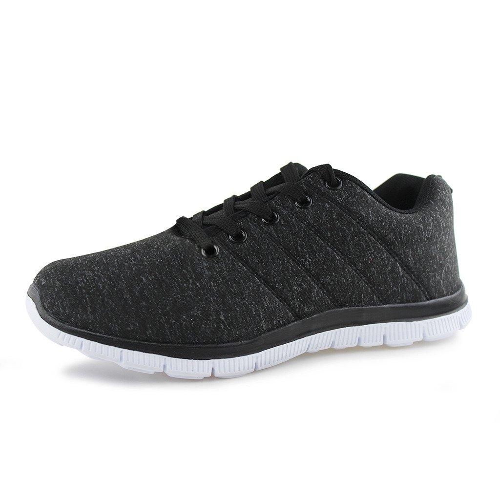 Hawkwell Women's Light Weight Sport Fashion Sneaker B071LBYD23 7 B(M) US|Black-3