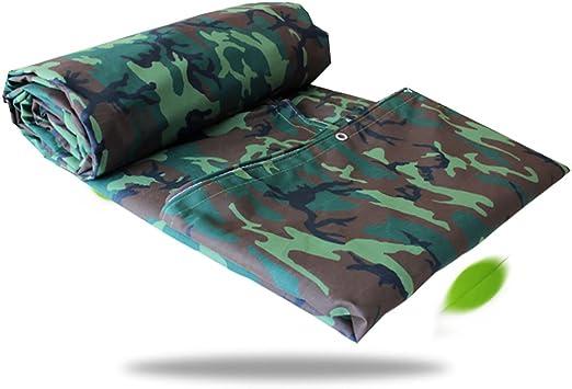 Reinforced Tarpaulin Heavy Duty Tarp Ground Sheet Camouflage Blue Green Silver