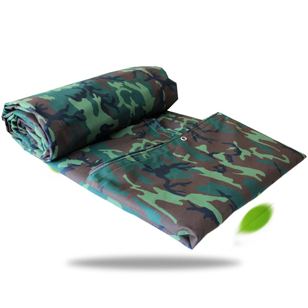 TDLX Camouflage Plane Abdeckung Wasserdicht Heavy Duty Outdoor Leinwand Zelt Splice Plane Abdeckung Boden Armee Camo Grün, 550G   M² (größe   4  4m)