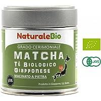 NaturaleBio - Tè Verde Matcha Biologico in Polvere [ GRADO CERIMONIALE ] 30g. Tea Verde Giapponese di 1 Grado | Bio Grado Cerimoniale A | The Prodotto in Giappone Uji, Kyoto.