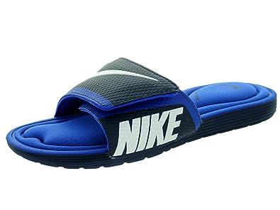 81eb5326e ... spain nike mens solarsoft comfort slide sandal midnight navy white game  royal 7 b12ac 680c3
