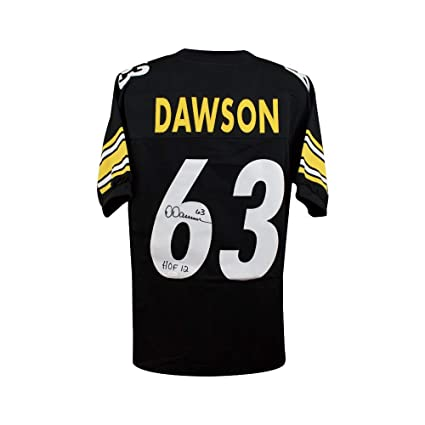 c2e173bdbcb Image Unavailable. Image not available for. Color  Dermontti Dawson HOF  Autographed Pittsburgh Steelers Custom Football Jersey JSA