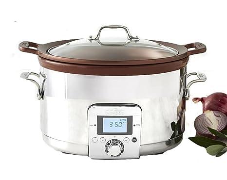 Amazon.com: All-clad 5 qt Gourmet olla de cocción lenta con ...