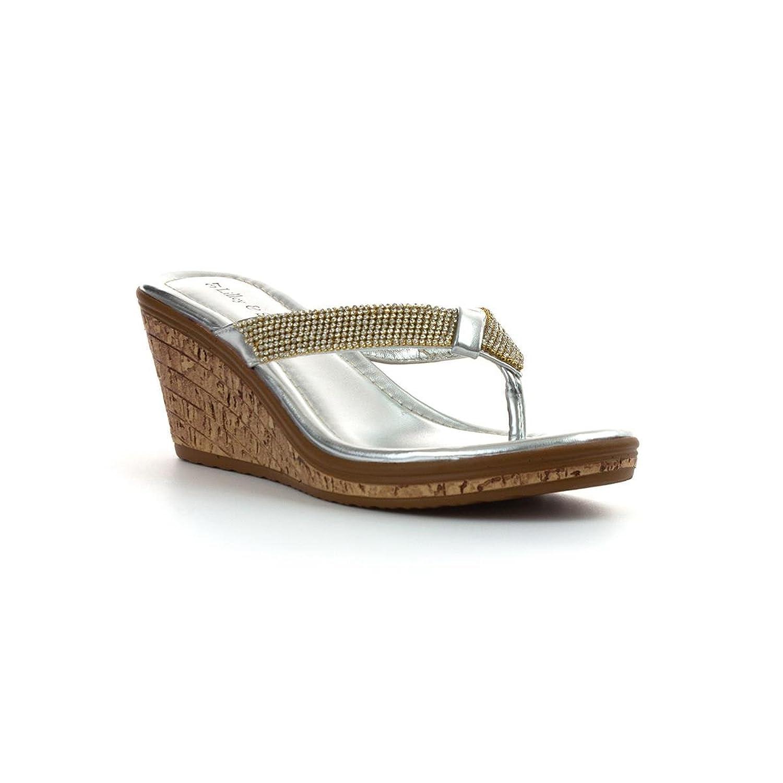 Lilley & Skinner Keil Sandale im Silber für Frauen durch Größe 38 - Mehrfarbig RaUpxx