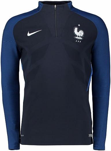 Nike FFF Drill El Sudadera de la línea Federación Francesa de fútbol, Hombre, Negro (Dark Obsidian/Game Royal/Blanco), XL: Amazon.es: Ropa y accesorios