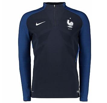 Nike FFF Drill El Sudadera de la línea Federación Francesa de fútbol, Hombre, Negro (Dark Obsidian/Game Royal/Blanco), S: Amazon.es: Deportes y aire libre