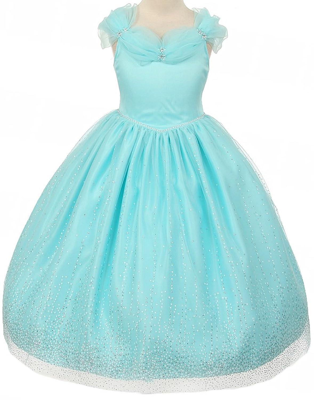 Amazon.com: Aki_Dress AkiDress Off-Shoulder Princess Style Flower ...