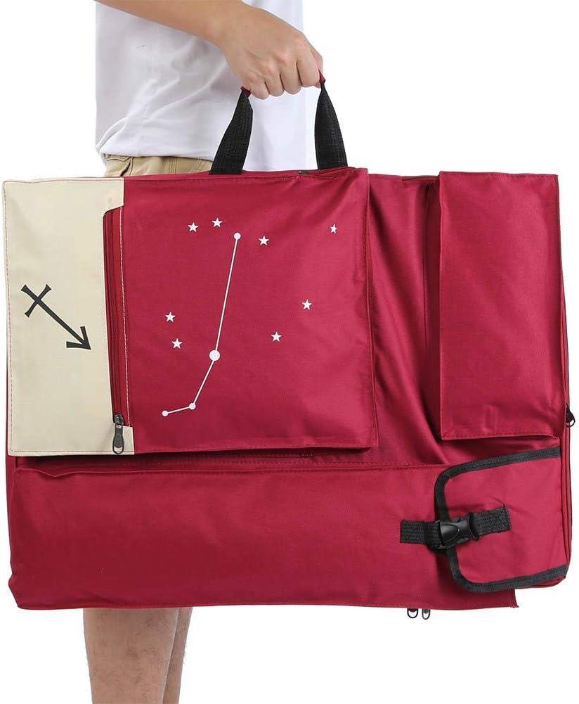 rot 4K Art Portfolio Case K/ünstler Rucksack und Einkaufstasche Wasserdichte Skizze Zeichenbrett Tasche Art Supply