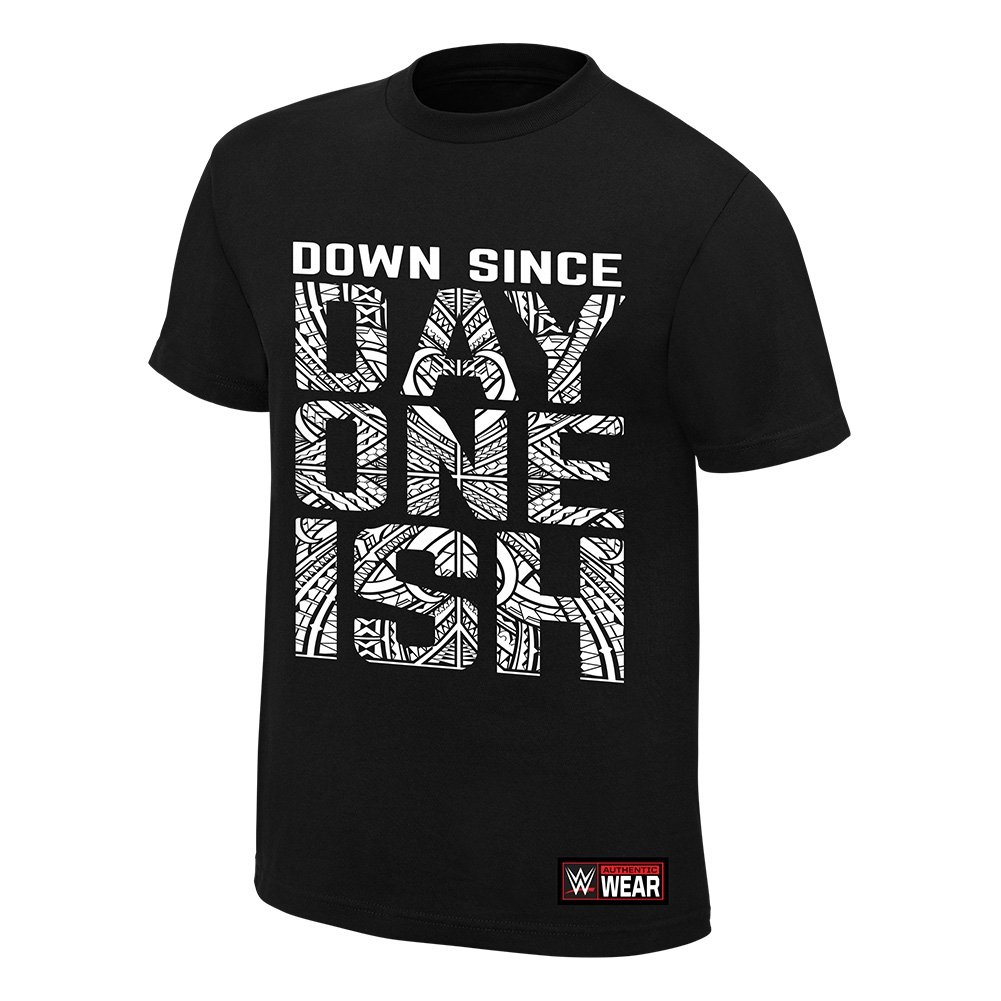 The Usos Down Since Day One Ish WWE Authentic Mens Black T-shirt-4XL