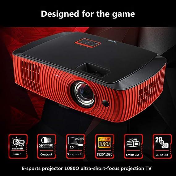 Uncle tribe Proyector proyector de Tiro Corto Home proyector de ...