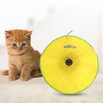 Owikar - Juguete electrónico para gato Meow Pet de 4 velocidades, con cubierta interior, ratón interactivo para gatos, juguete electrónico para gatos ...