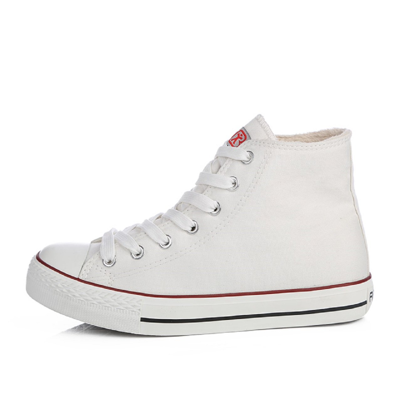 Renben High Top Sneakers For Womens Platform Lace-Up Canvas Fashion Shoes
