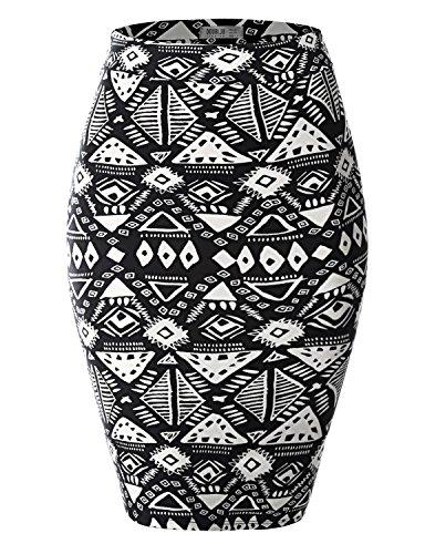 SJSP Color Block Fashion Basic PRINT28 Maxi Skirt,M