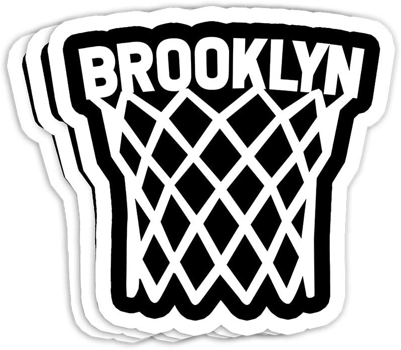 Brooklyn Basketball Player Net Gift Decorations - 4x3 Vinyl Stickers, Laptop Decal, Water Bottle Sticker (Set of 3)