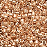 "Miyuki DB-411 7.2g Galvanized Gold Delica Seed Bead, 11/0"""