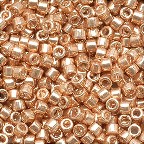 Gold Seed Beads - Miyuki DB-411 7.2g Galvanized Gold Delica Seed Bead, 11/0
