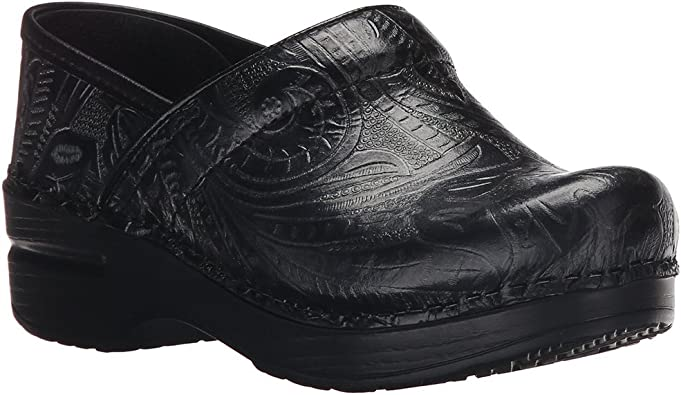 Clogs Shoes Black Tooled Size 39