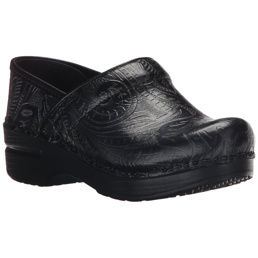 Comfort Shoes Dansko Womens Size 39 Professional Xp Embossed Black Medallion Leather Clogs Clothing, Shoes & Accessories