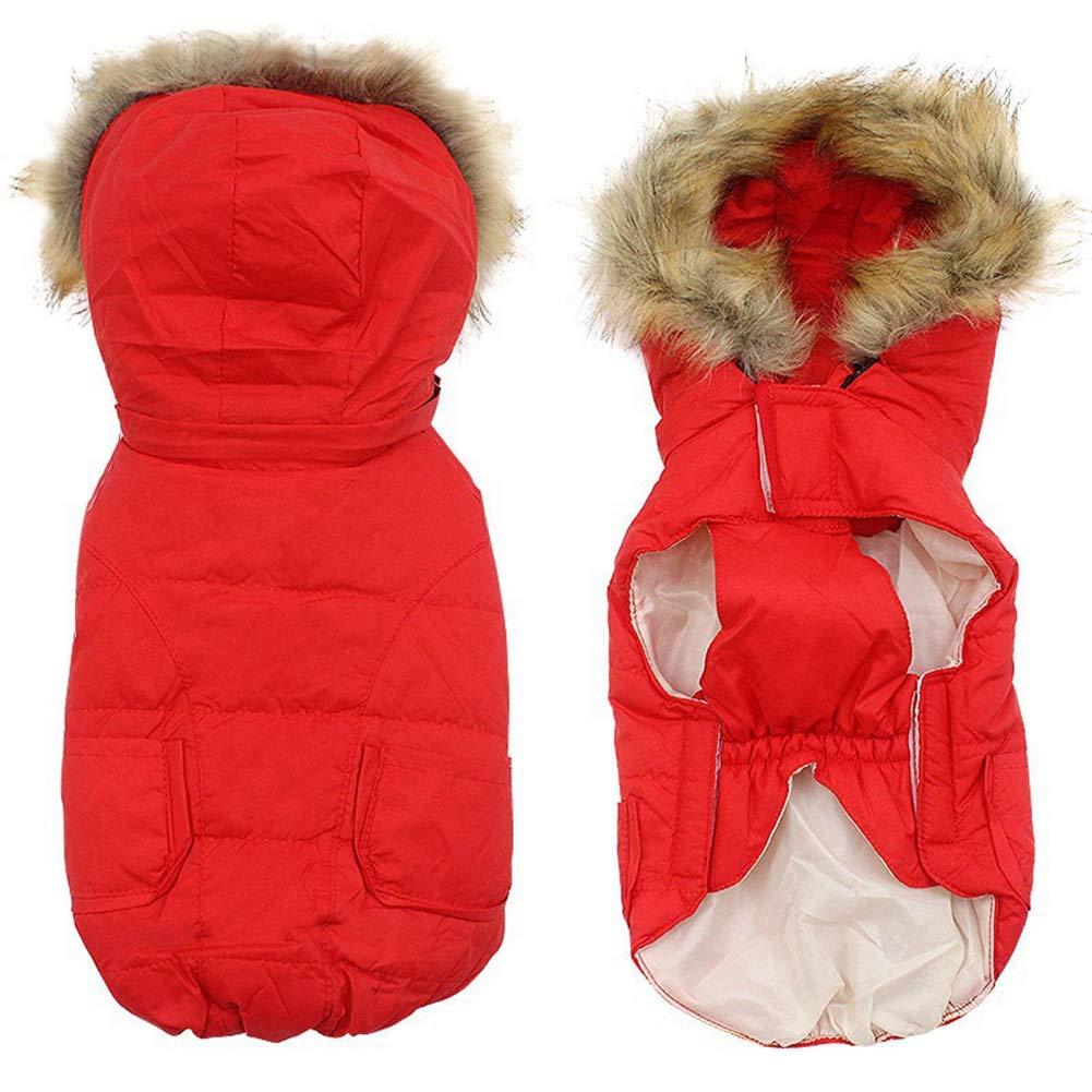 Savlot Piumino per cane Inverno Piccolo animale domestico Abbigliamento per cani Giacca per cuccioli Cappotto con chihuahua Cappotto con pelliccia Bulldog francese Cappotto con cappuccio cane