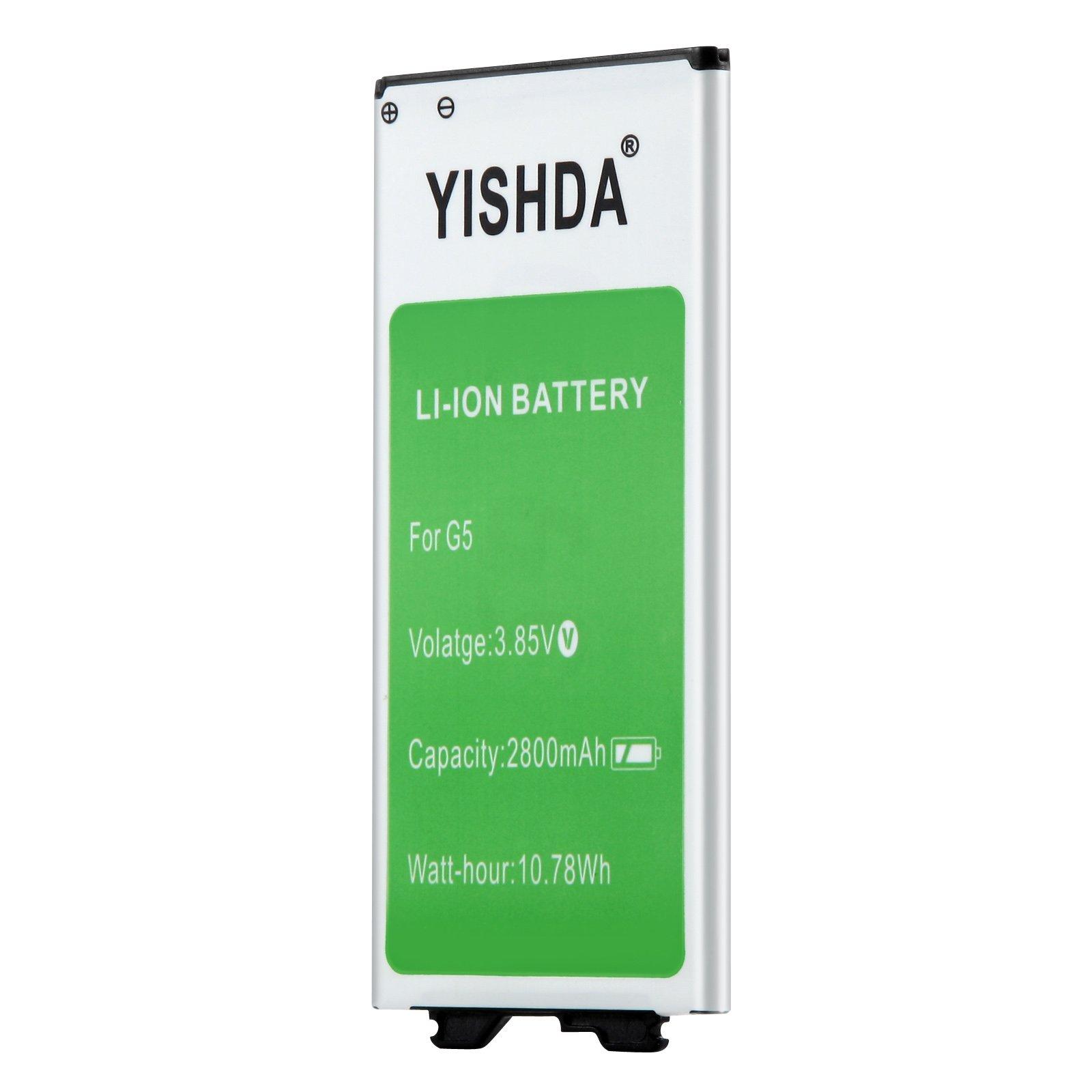 YISHDA LG G5 Battery | 2800mAh Replacement LG BL-42D1F Battery for LG G5 US992 VS987 H820 H830 LS992 H850 H858 | LG G5 Spare Battery [18 Month Warranty]