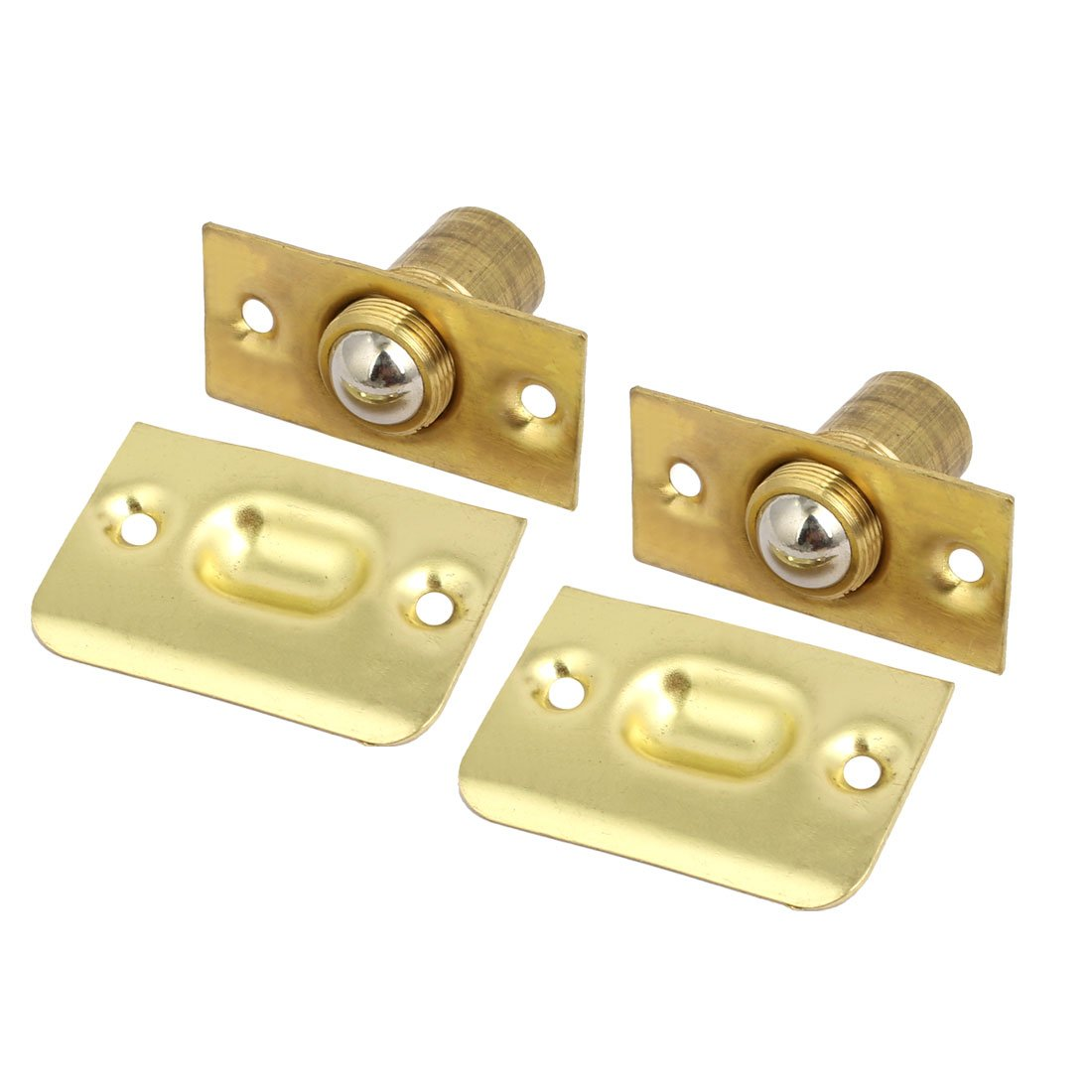 uxcell Door Cabinet Brass Adjustable Ball Catch Latches Catchers Hardware 2pcs