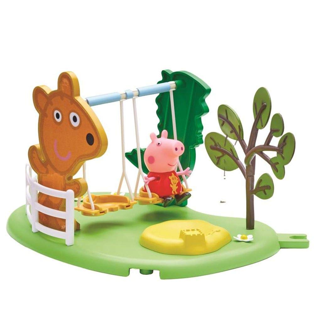 Peppa Pig Outdoor Fun Children Swing | Playset with Figure Peppa