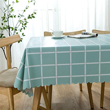 Remarkable Omelas Plaid Vinyl Tablecloth Square 42X42In Turquoise And White Checkered Pvc Oilcloth Wipe Clean Dining Kitchen Table Cover Protector Beatyapartments Chair Design Images Beatyapartmentscom