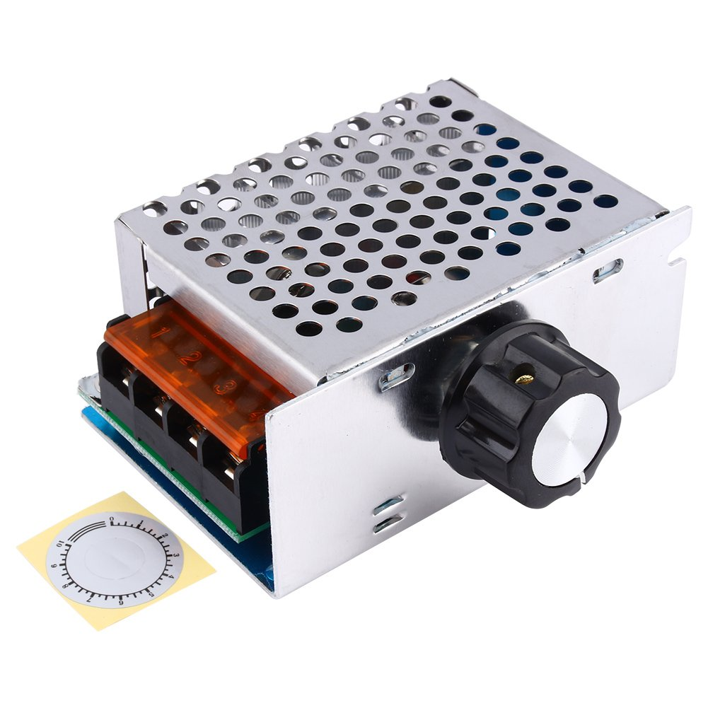 High Power 4000W 220V AC SCR Voltage Regulator Motor Speed Controller Electric Adjustable Speed Controller by Wal front (Image #1)