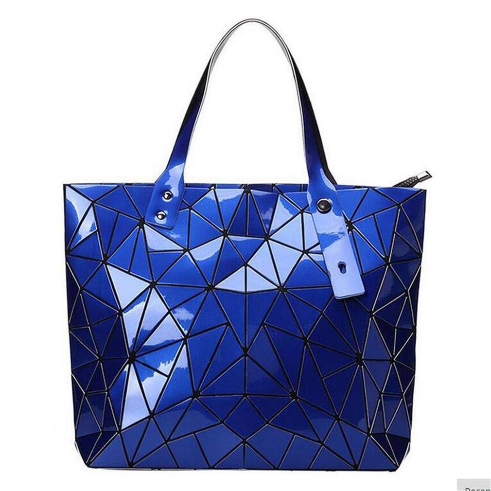 Bao Handbags Bags Designer Geometry Hologram Top-Handle Bag Silver Hegymbag