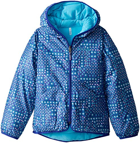 Columbia Big Girls' Girls Dual Front Jacket, Light Grape Print, Large by Columbia