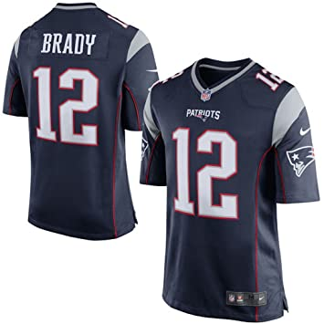 fc596646 Youth New England Patriots Tom Brady Nike Navy Blue Team Color Game Jersey  Yth Small: Amazon.ca: Books