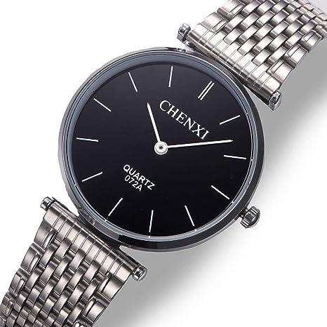 North King Relojes para Hombres con Banda de Acero Inoxidable clásico, Reloj Impermeable Ideal del