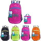 EGOGO impermeabile pieghevole Packable Escursionismo viaggio zaino scuola borsa zaino per le ragazze, ragazzi, College gli studenti S2016