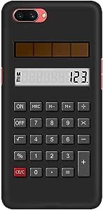 Stylizedd Oppo A3s Slim Snap Basic Case Cover Matte Finish - Calc (Black)