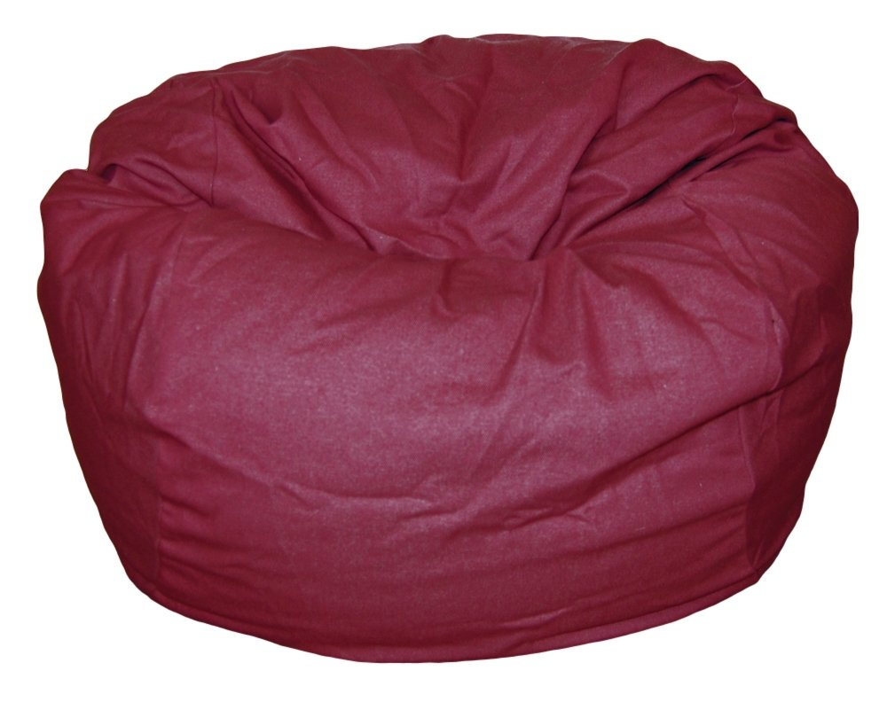 Ahh! Products Brick Red Denim Washable Large Bean Bag Chair