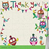 Rachel Ellen Owls Party Thank You Cards x 8