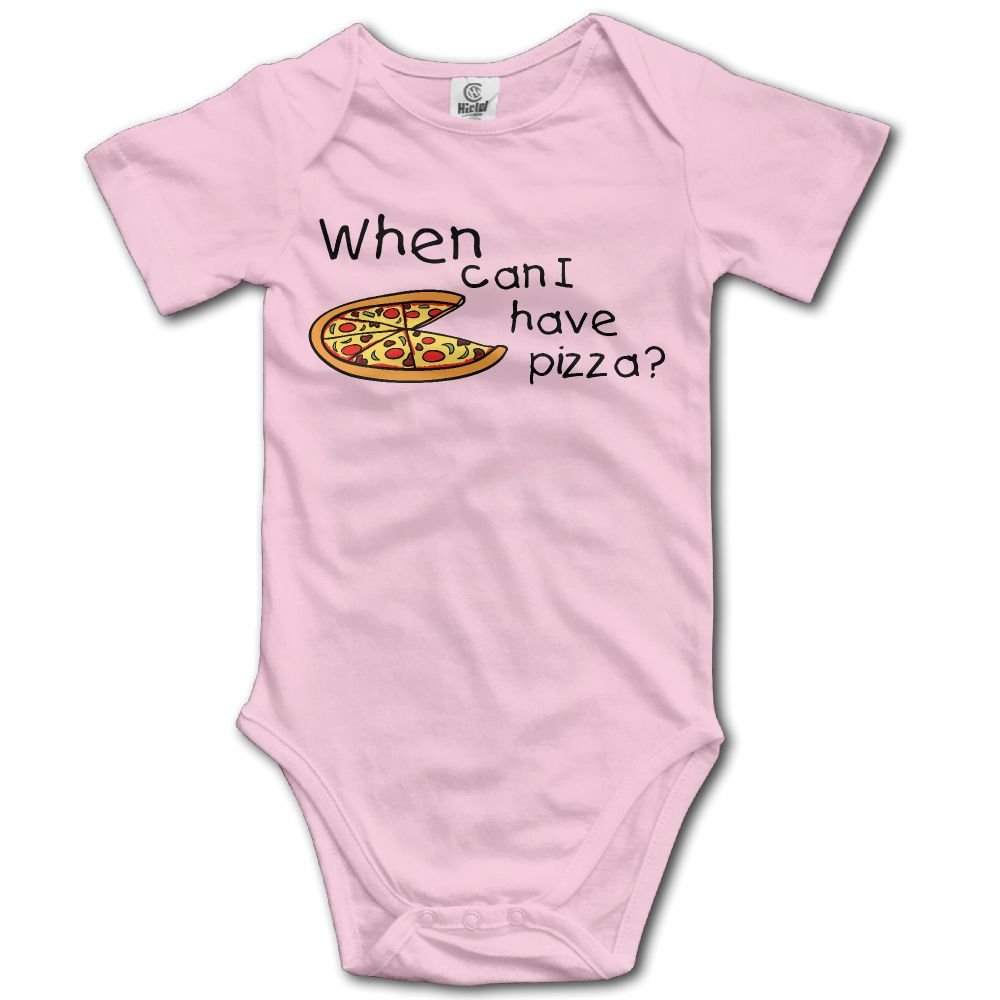 Midbeauty When Can Have Pizza Newborn Baby Sleeveless Jumpsuit Romper