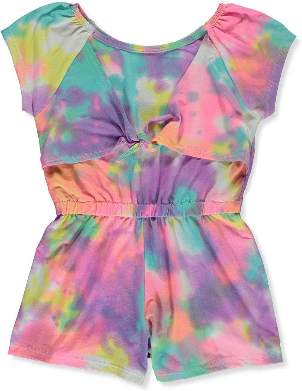 One Step Up Girls Tie-Dye Romper