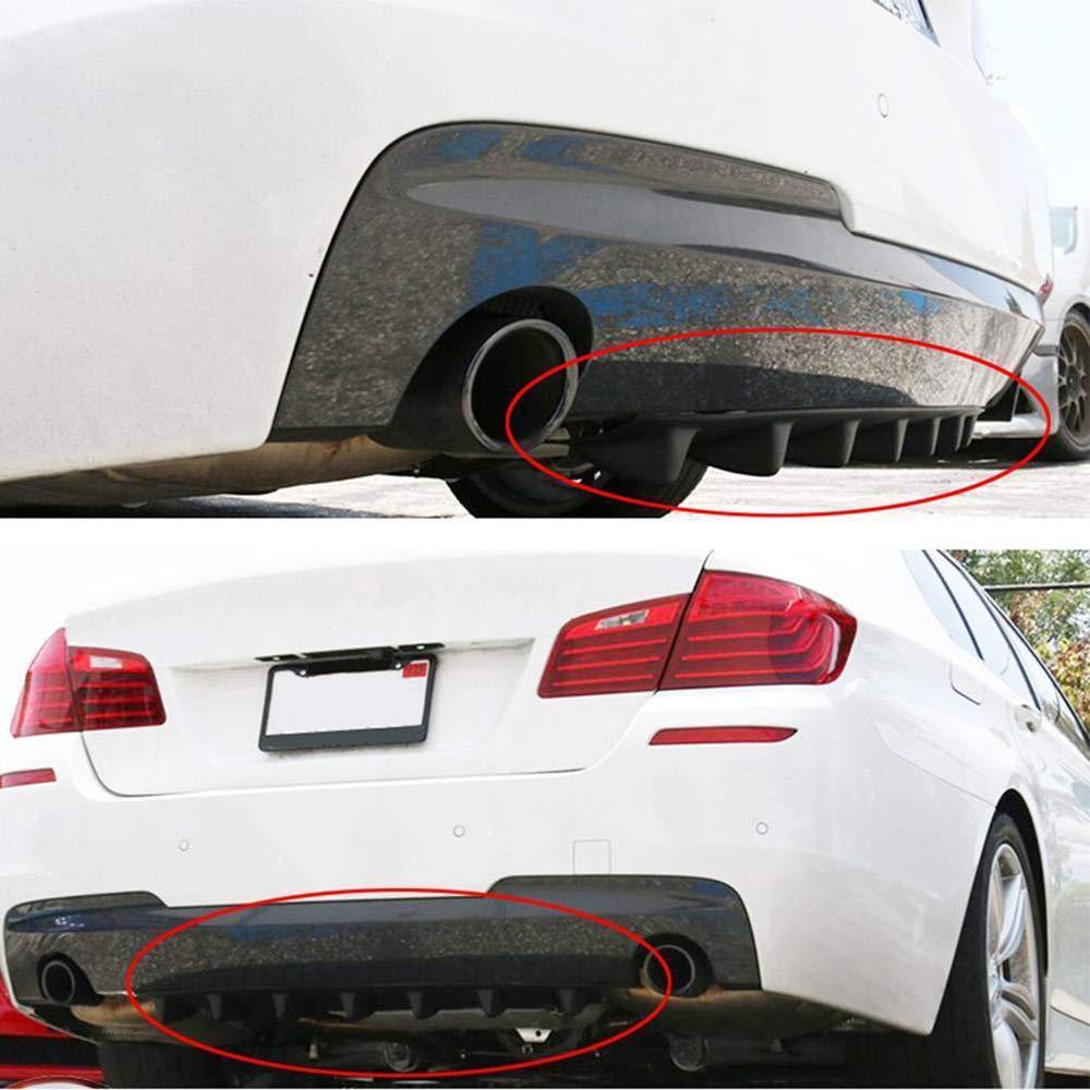 Festnight 33.7 5.3 Car Shark Fin Universal Rear Bumper Lip Diffuser Anti-Crash Wrap 7 Fins Gloss Black